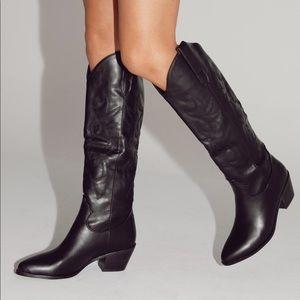 Billini Urson Boots - Black Cowboy Boots - Size 6